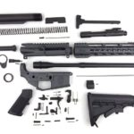 image of ar-15 weapon disassembled and knolled.
